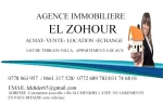 Agence immobiliere el zohour