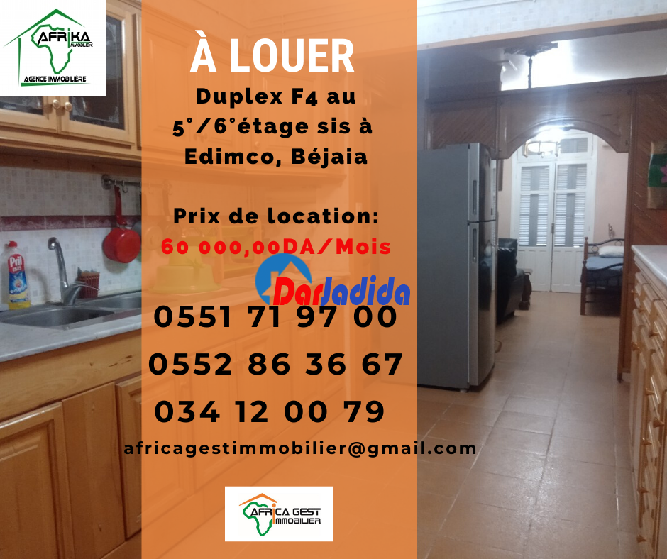 Location Appartement F4 Edimco, ville de Bejaia Béjaïa Bejaia