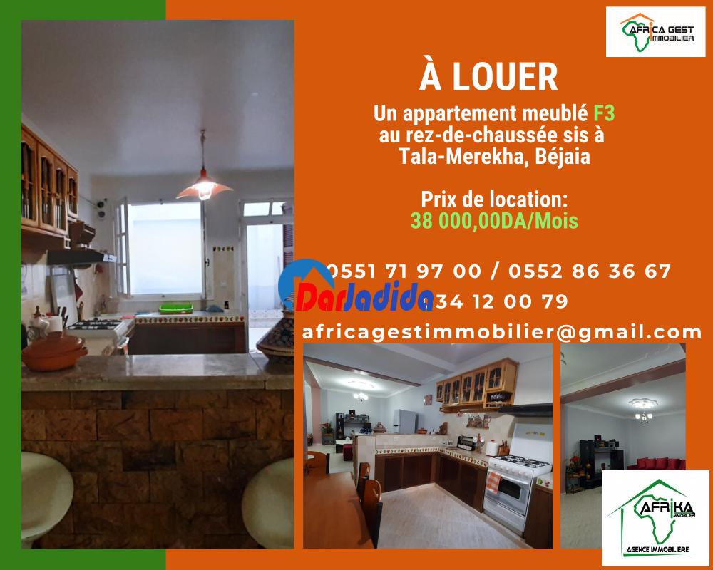 Location Appartement F3 Tala Merekha Bejaia Bejaia Ref 178102