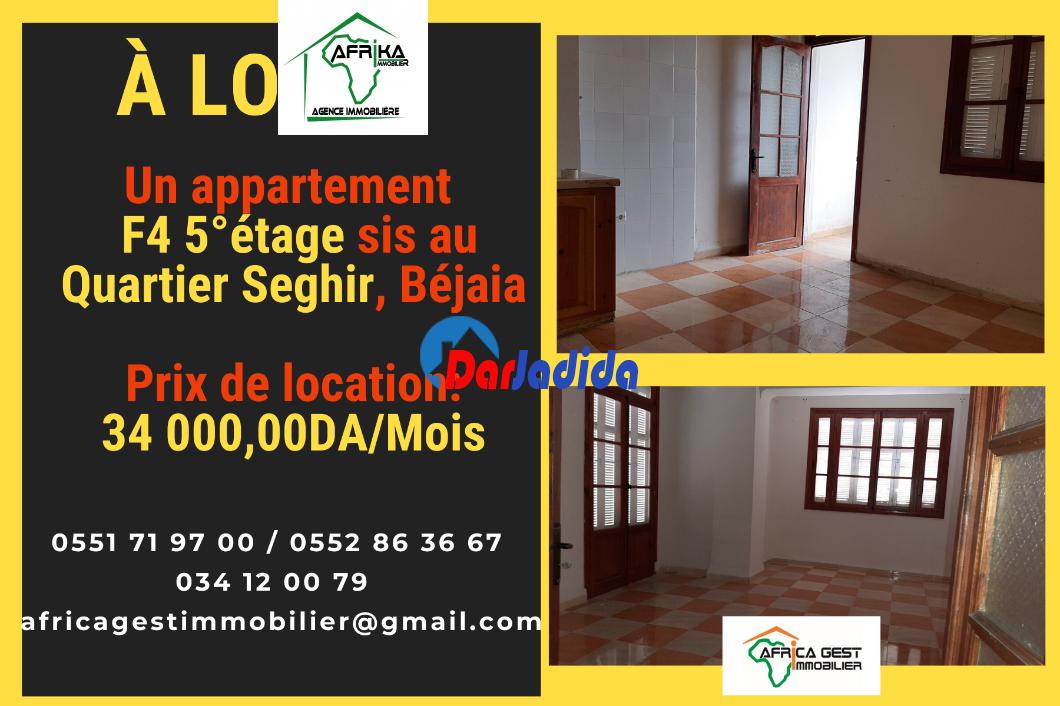 Location Appartement F4 Quartier Seghir Béjaïa Bejaia