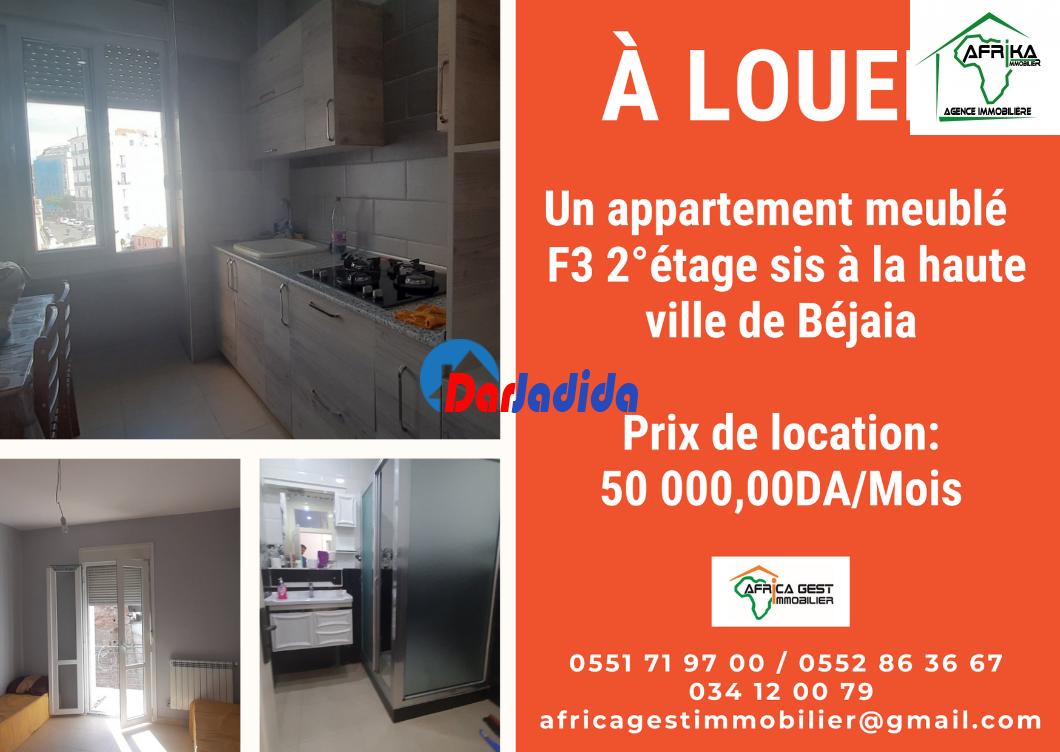 Location Appartement F3 Haut ville Béjaïa Bejaia