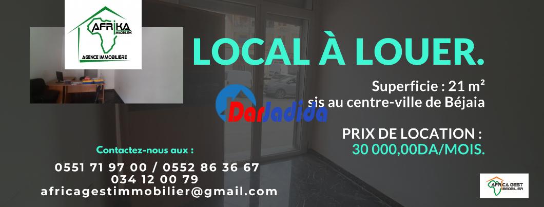 Location Local  Centre ville Béjaïa Bejaia