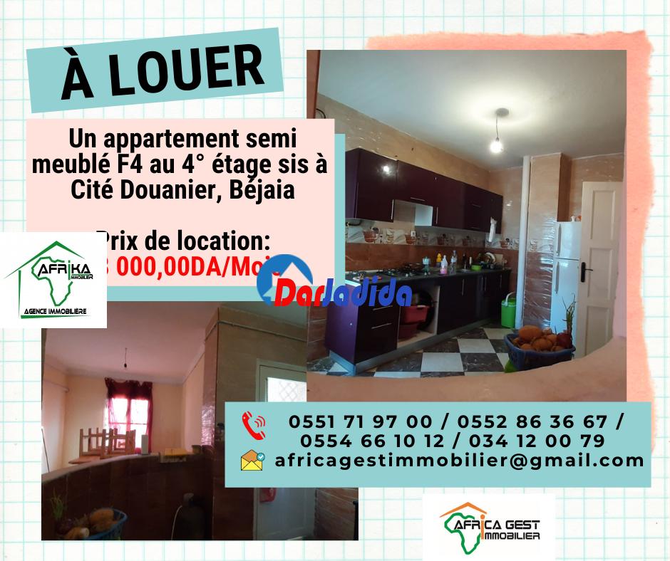 Location Appartement F4 Cité Douanier Béjaïa Bejaia