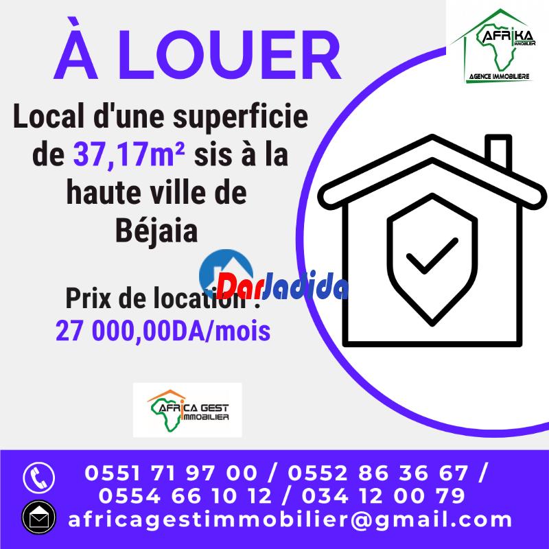 Location Local  Haute ville Béjaïa Bejaia