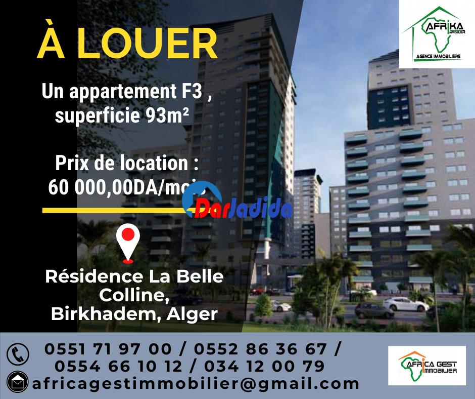 Location Appartement F3 Birkhadem Birkhadem Alger