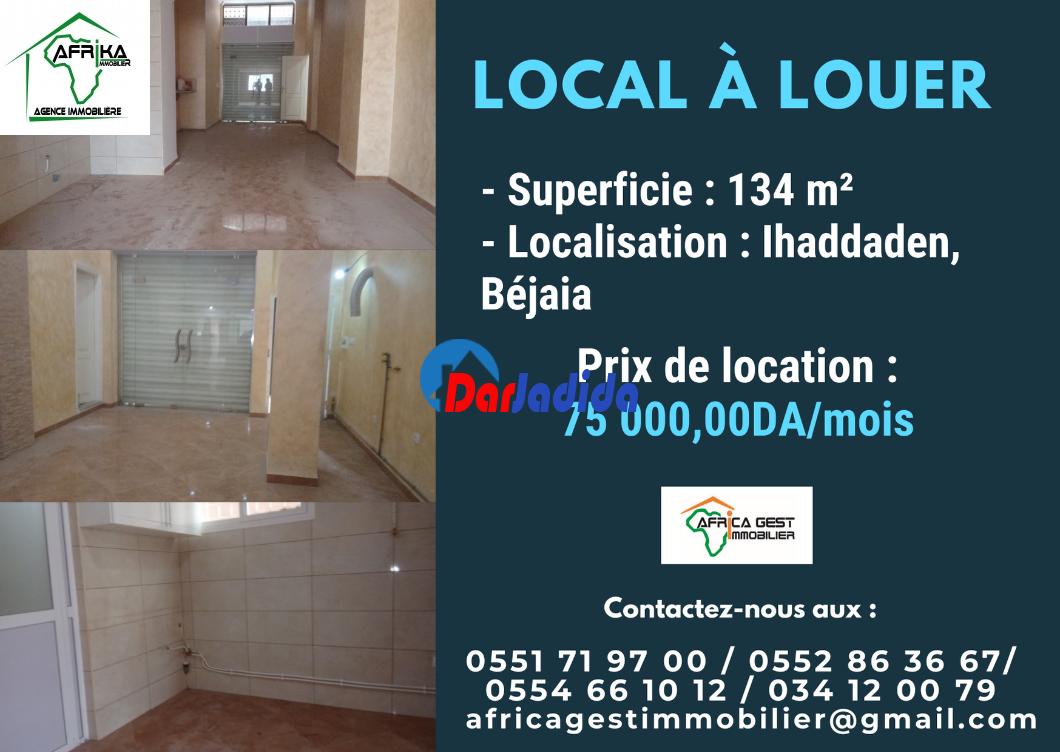 Location Local  Ihaddaden Béjaïa Bejaia