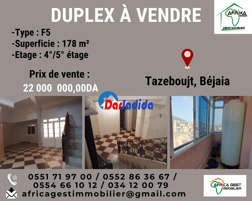 Vente Appartement F5 Tazeboujt Béjaïa Bejaia