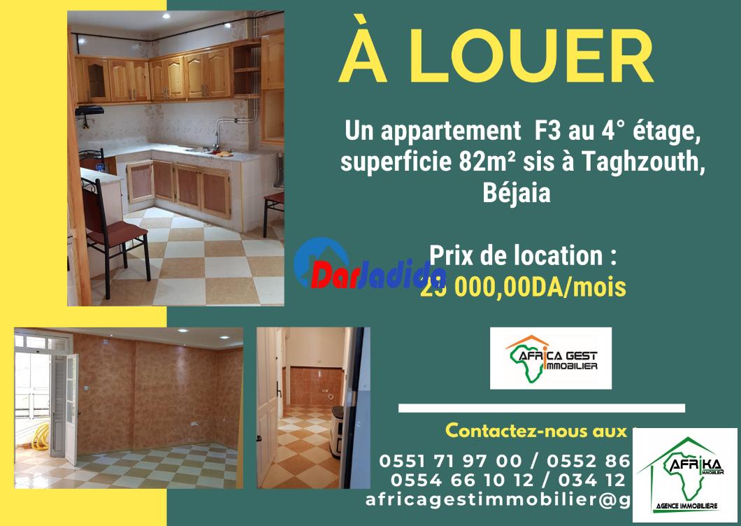 Location Appartement F3 Taghzouth Béjaïa Bejaia