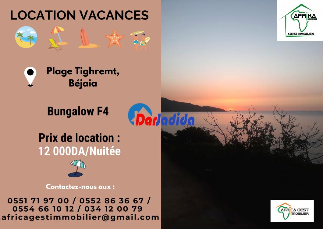 Location vacances Bungalow  Bejaia