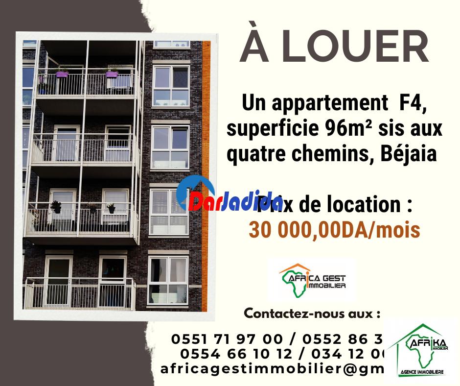 Location Appartement F4 Quatre chemins Béjaïa Bejaia