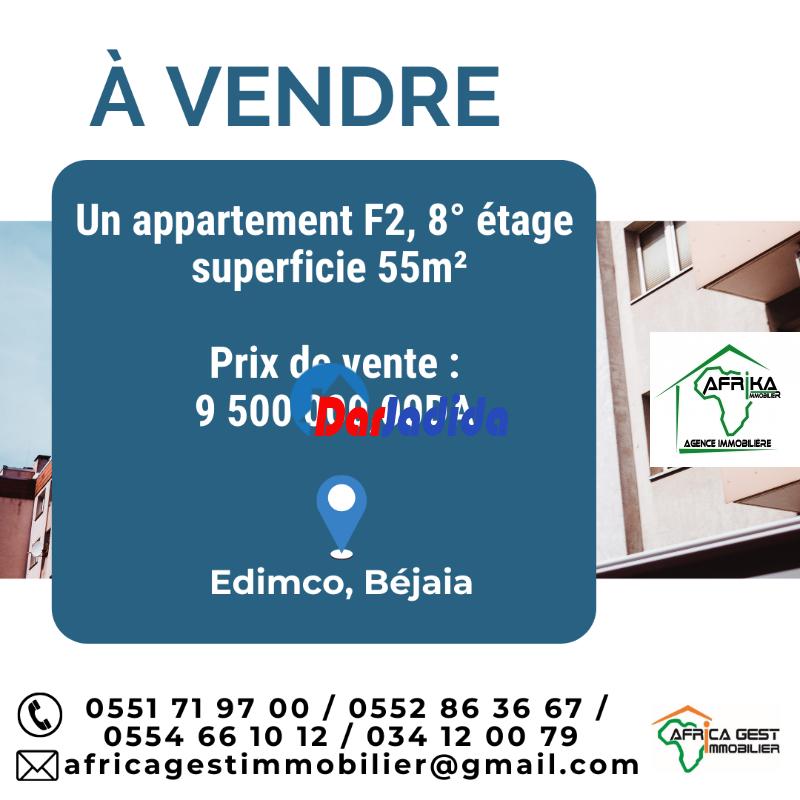 Vente Appartement F2 Edimco Béjaïa Bejaia