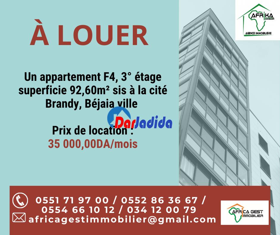 Location Appartement F4 Cité Brandy Béjaïa Bejaia