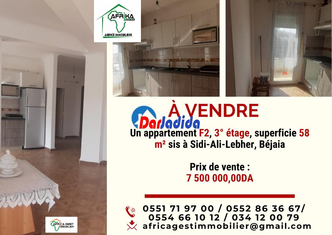 Vente Appartement F2 Sidi-Ali-Lebher Béjaïa Bejaia