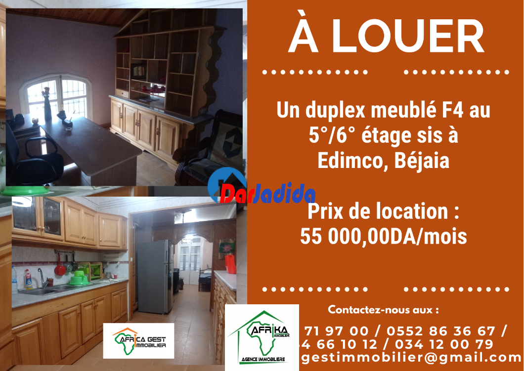 Location Appartement F4 Edimco Béjaïa Bejaia