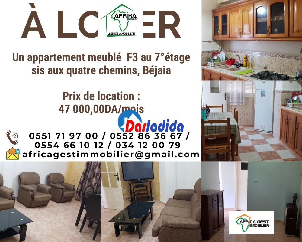 Location Appartement F3 Quatre chemins Béjaïa Bejaia