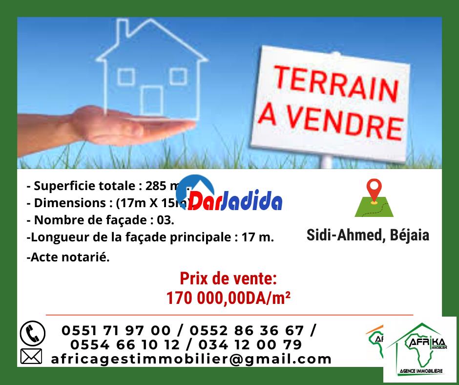 Vente Terrain  Sidi Ahmed Béjaïa Bejaia
