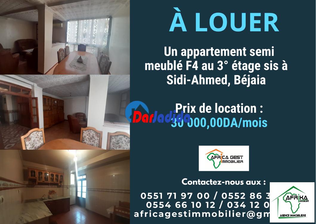 Location Appartement F4 Sidi Ahmed Béjaïa Bejaia