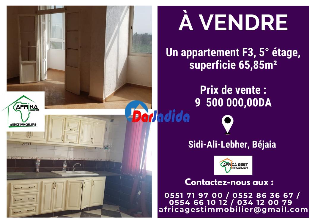 Vente Appartement F3 Sidi Ali Lebher Béjaïa Bejaia